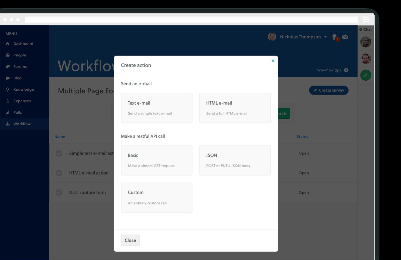 features workflow builder create
