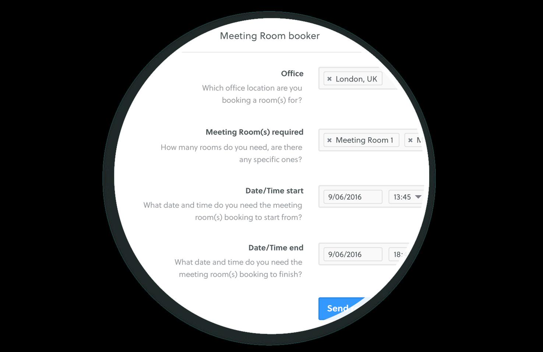 features workflow builder room booker