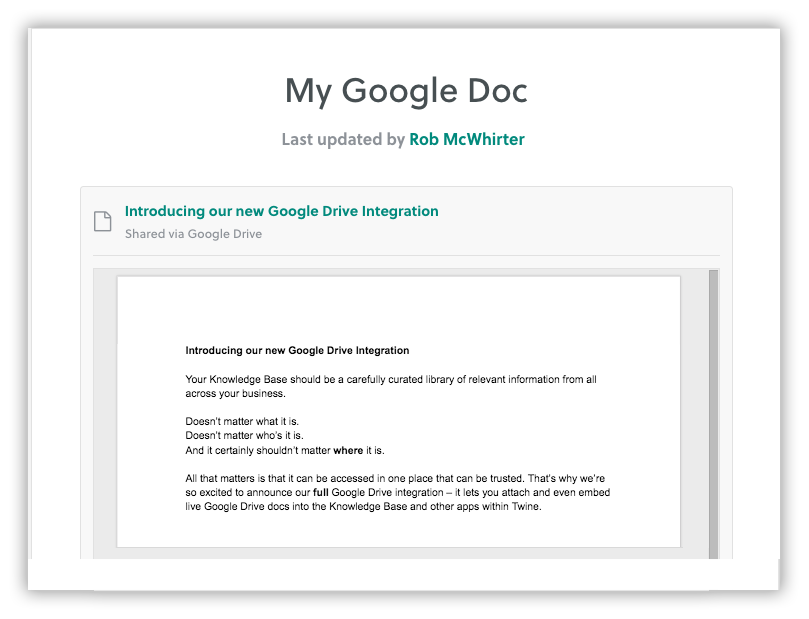 Introducing our new Google Drive Integration – Twine